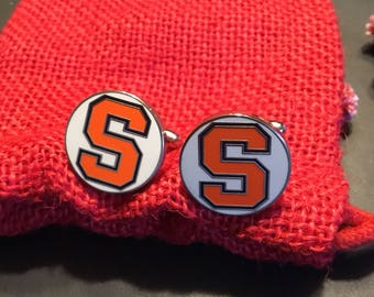 Syracuse University Orangemen Cufflinks