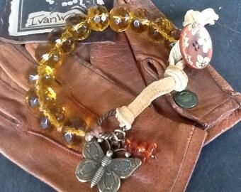 Butterfly Bracelet Artisan Hand knotted Boho bracelet Women's bracelet