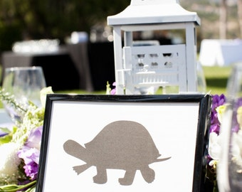 Animal Silhouette Table Cards (Digital File)