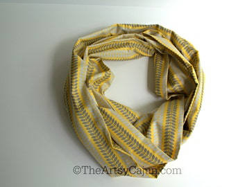 Monogrammable Yellow and Gray Infinity Scarf, Only store to offer these!