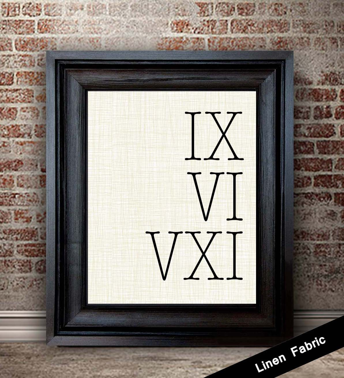 Fourth Wedding Anniversary Gift Ideas For Him: 4th Anniversary Gift For Men Roman Numeral Sign 4 Year