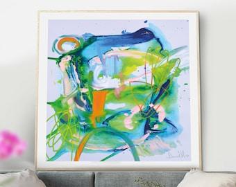 Large Printable Art, Bedroom Prints, Large Art Prints, Colorful Art, Square Print, Wall Art, Abstract Wall Art, Modern Home Decor Dan Hobday