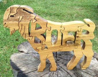 Boer Goat | Wooden Puzzle | Wooden Toys | Christmas Gifts | Gifts for | Kids Gift | Wood Toys | Wood Puzzle | Personalized | Jigsaw Puzzle