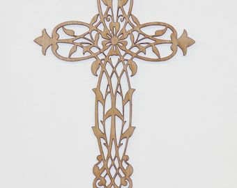 Floral vine cross