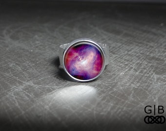 Pink Space Ring Purple Galaxy Adjustable Ring - Pink Space Jewelry Ring - Purple and Pink Galaxy Ring - Pink and Purple Galaxy Space Ring