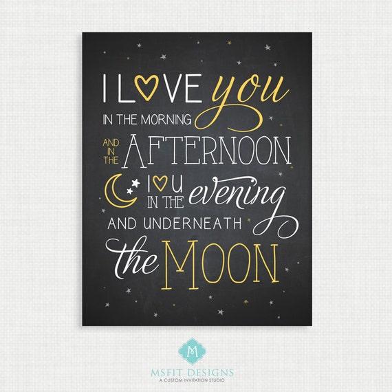 Nursery Wall Decor - Wall Art- I Love You to the Moon and Back - Nursery Art - Wall Decor  - 11x14 Instant Digital Download