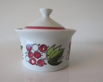 Rorstrand Sweden pot with lid Druva 60s.