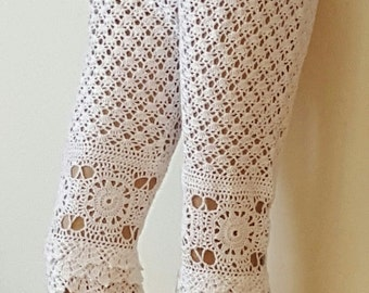 Elegant Lace Crocheted Capris  - Made to Order