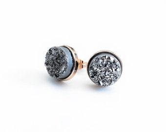 Silver Druzy Clusters
