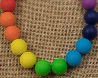 Silicone beads Rainbow S