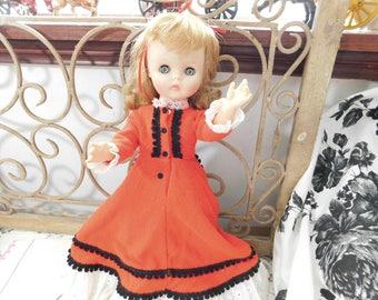 Vintage plastic Doll, Doll in Red Dress, Vintage Doll, Vintage Toys, :)s* IO