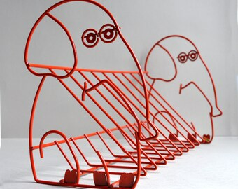 Orange Elephant Wire Bookshelf - Made in Taiwan