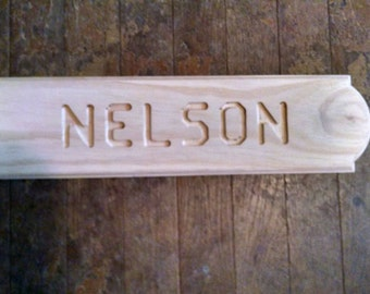 Handmade wooden plaque made to order