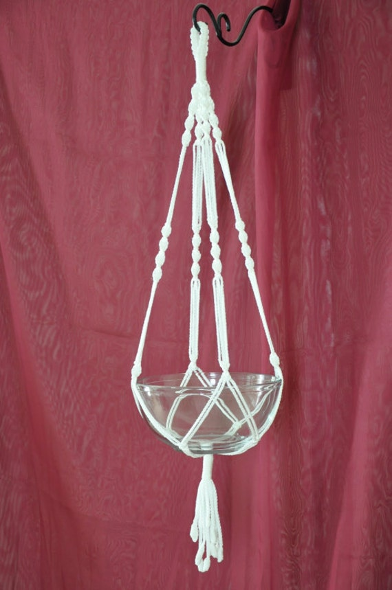 etsy macrame plant hangers crafted macrame plant hanger white 35 259