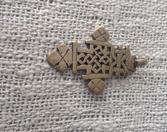 Ethiopisches Coptic Cross made of brass hand carved