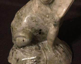 Vintage Frog Sculpture made of Granite Frog Collectors Frog Lovers SALE PRICE was 30 now 19.99
