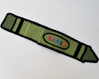 Crochet / Green Crayon Scarf