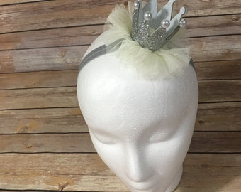Silver Mini foam crown