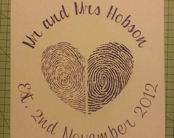 Fingerprint Papercut - double print with wording