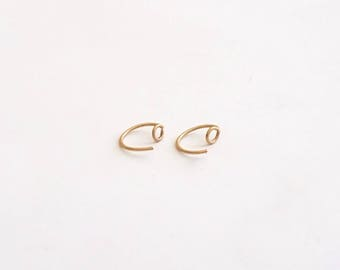 4mm Open Circle Ear Hugger Earring Solid Sterling Silver Gold Filled Rose Gold Filled Earrings circle earrings jewelry minimalist 14k 064