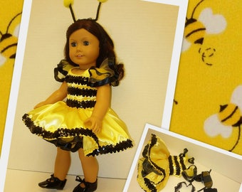 Complete Bumblebee Tap Dance Costume Fits American Girl Dolls