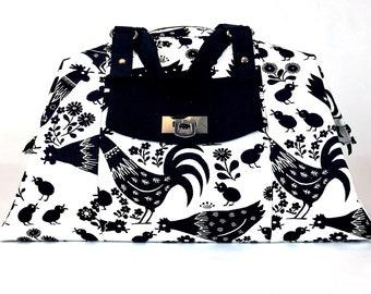 Carry On Bag, Overnight Bag, Handmade Bag, Travel Bag, Weekend Bag, Gym Bag