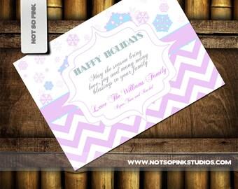 Happy Holiday Snowflake Greeting Card