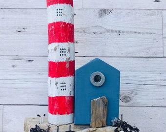 Driftwood Art • Lighthouse Look out • Costal Art