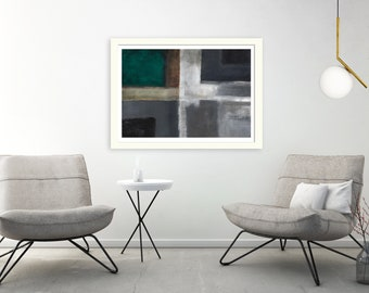 Teal Abstract art, teal Contemporary art, teal Modern art, teal abstract print, grey abstract art, grey abstract print, grey modern art