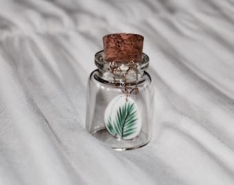 Floral porcelain oval earrings