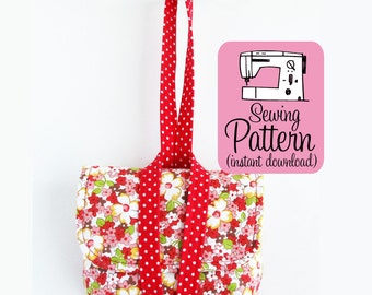 Camera Case Wristlet PDF Sewing Pattern | Intermediate sewing pattern to make a padded pouch with two pockets and a wrapped wristlet strap.