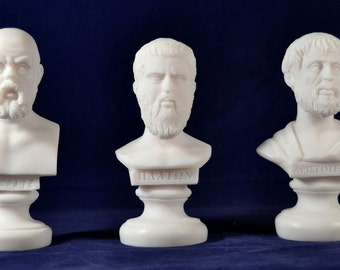 Socrates ,  Plato, Aristotle  Bust greek Great Philosophers Set  NEW