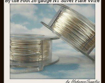 By the Foot 26 gauge Non Tarnish Silver Plated Wire - 100% Guarantee
