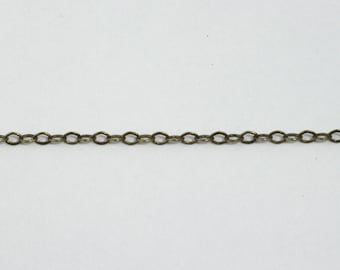 Antique Brass, 2mm x 1mm Delicate Cable Chain CC180