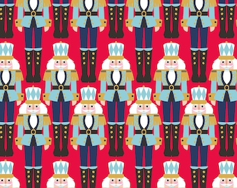 Nutcracker Cavaliers From Blend Fabric's Snowflake Waltz Collection by Maude Asbury