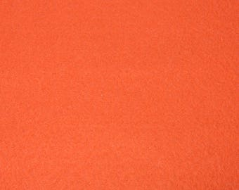 Coupon felt ORANGE 20/30 cm to 1.5 mm thick