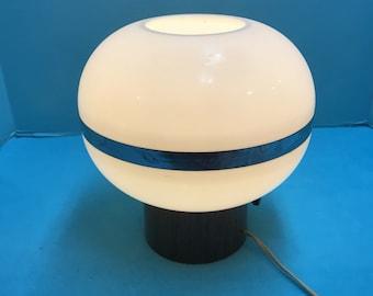 Vintage SPACE AGE mid century round plastic spaceship lamp