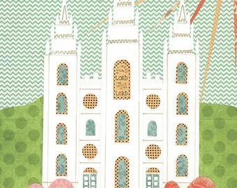 Salt Lake Temple Collage Print