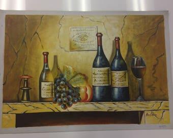 Classy Wine / Oil Painting / Canvas Art / Wall Art /