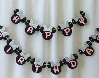 minnie mouse banner,happy birthday banner, minnie mouse banner birthday,minnie mouse happy birthday banner, minnie mouse birthday,clubhouse