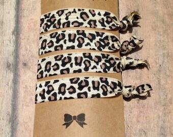 Leopard Printed Elastic Hair Ties