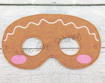 Gingerbread Man Mask - Gingerbread Mask - Gingerbread Girl - Gingerbread Boy - Gingerbread Story - Christmas - Holiday Tradition - Felt Mask : kids gingerbread man costume  - Germanpascual.Com