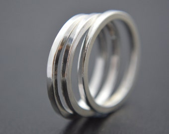 Sterling Silver Square Stacking Ring