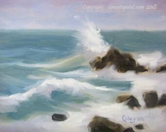Rock Spray...Original Oil Painting by Maresa Lilley, SND