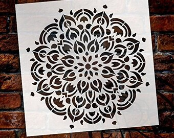 Mandala - Peacock - Complete Stencil by StudioR12   Reusable Mylar Template   Use to Paint Wood Signs - Pallets - Pillows - Wall Art -...