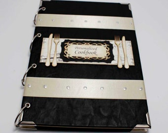 Handmade  personalized recipe book  A4  recipe binder personalised gifts for her  gift, recipe journal, blank recipe book