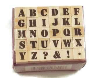 Mini Alphabet Rubber Stamp Set  (ARS-6)
