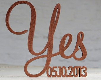 Weddingpresent - 3D Wood lettering - Yes