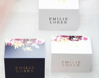 Freya Elegant Place Cards, Printable Place Cards or Printed Place Cards, Watercolour Elements, Tented Cards Name Tags Wedding Stationery