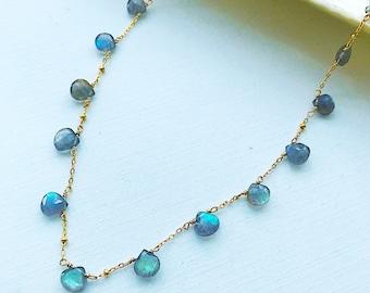 Labradorite Briolette Necklace